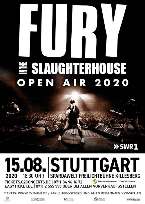 FURY IN THE SLAUGHTERHOUSE Tickets
