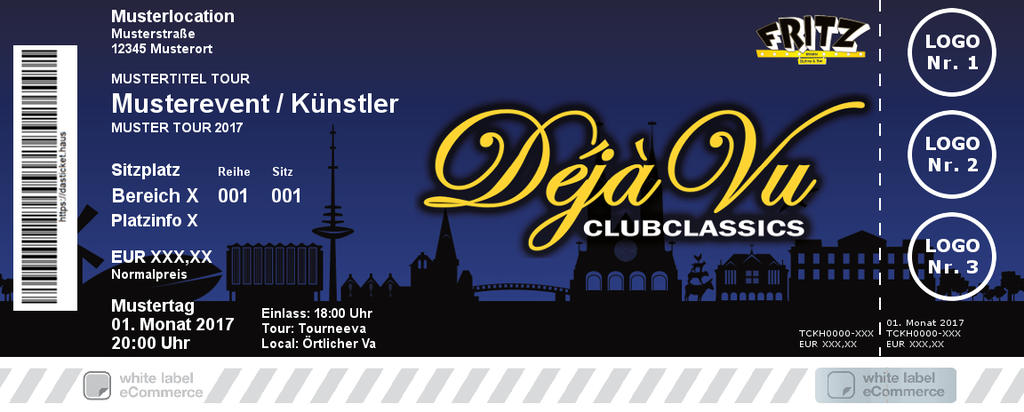 DéjàVu Clubclassics Colorticket