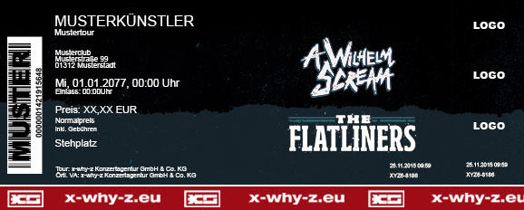 A WILHELM SCREAM & THE FLATLINERS Colorticket