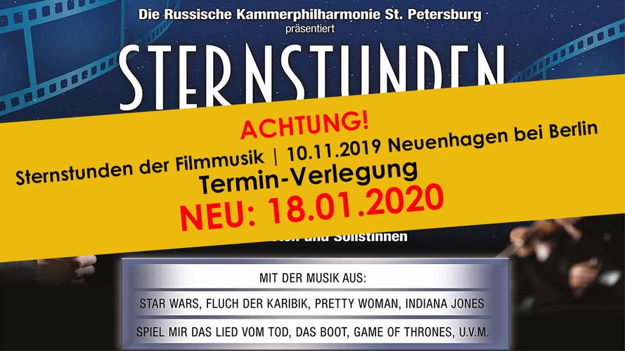 Verlegung Veranstaltungsdatum - Neuenhagen bei Berlin