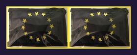 Modell 1 zum Binden - Sterne gedruckt | 2 Masken